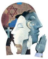 various religions image just Jewish Christian Muslim